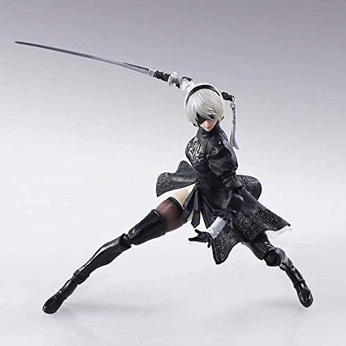 Figure anime NieR Action Figure 14cm Automata YoRHa No.2 Tipo B POD Drone Figurine Action Figure Toy Anime Figurine Ornamenti da collezione