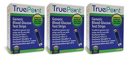 True Point Generic Test Strips 150 Count for Use with One Touch Ultra, Ultra 2 and Ultra Mini Meter. (Meter NOT Included, Test Strips ONLY)