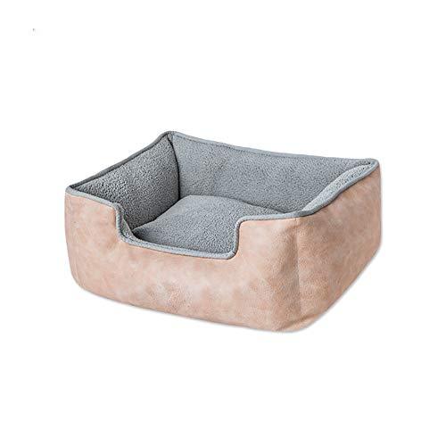 AYACQ vierkante wol huisdier hondenmand wascomfort bodem anti-slip warme hond huisdierbed vier seizoenen universeel
