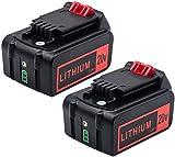 2 baterías LBXR20 de 5000 mAh de repuesto para Black and Decker 20 V de litio Max LB20 LBX20 LST220 LBXR2020-OPE LBXR20B-2 LB2X4020