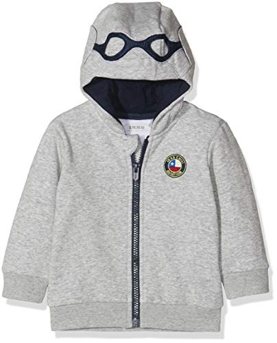 IKKS Junior Cardigan Zippe Capuche Aviateur Chaqueta Punto, Gris (Gris Chine Moyen 24), 3-6 Meses (Talla del Fabricante: 3M) para Bebés