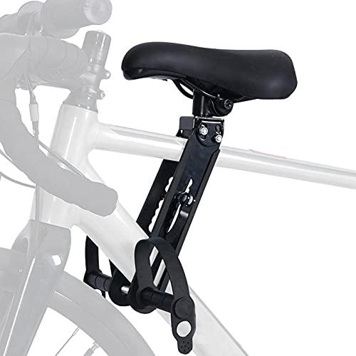 Souarts Extension de Guidon de Vélo avec des Outils Siège de vélo pour Enfant Accessoire VTT de Montagne Montés à l'avant avec Fixation de Guidon Avant Détachable Portable(Noir(siège))