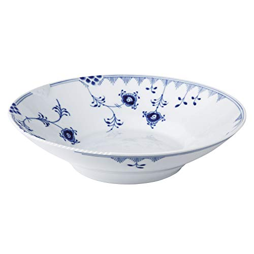 Royal Copenhagen Blue Elements Assiette creuse en porcelaine Bleu 25 cm