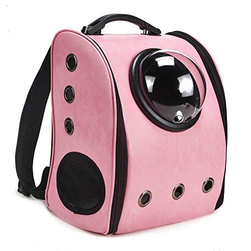 louvra Mochila Perro Portador Gatos Capazo de Mascotas para Línea Aérea, Color Rosa