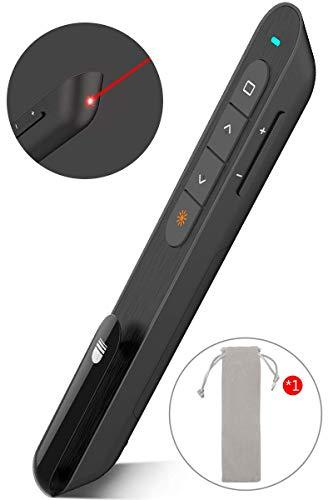 Wireless Presenter Pointer, Presentation Remote Presentation Clicker for mac, Laser Pointer 2.4GHz USB Powerpoint PPT Clicker Flip Pen for Office Teacher,Support Hyperlink (Black)