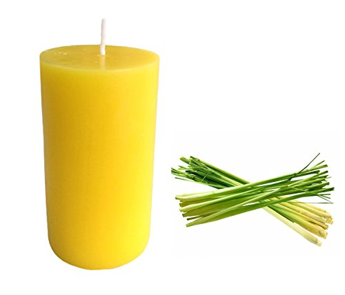 Collumino Citronella Scented Pillar Candle 35 hour Size 10 x 5.5cm