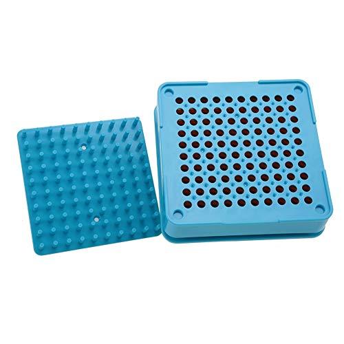 BLLBOO Leeren 100 Löcher Kapsel-Füller mit Puder-Spreader Plates Kapseln Füllwerkzeug (0#)