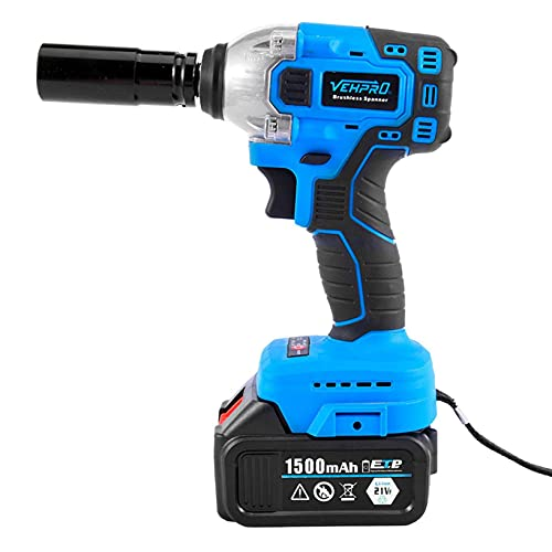 Cordless Impact Wrench, Lanhui 2021 New Electric Impact Wrench Sockets Set, 1/2'' Driver 420Nm/Li-ion Battery High Power Wrench, Cordless Wrench Tool - USA Fast Delivery