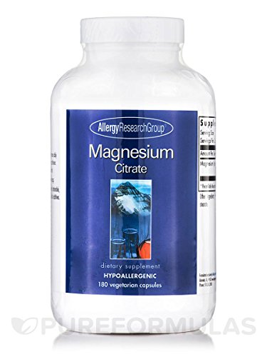 Allergy Research Group Magnesium Citrate 170 mg 180 Caps Allergy Research Group Magnesium