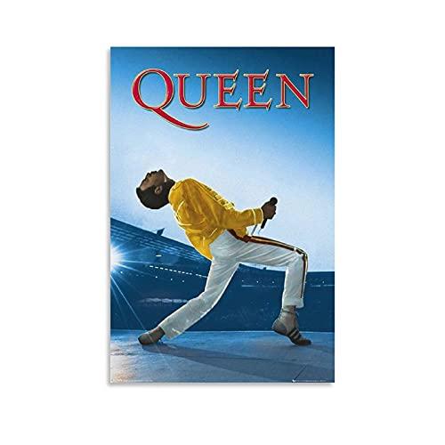 """Poster da parete """"Queen - Live At Wembley Muisc Pop"""" su tela per decorare la camera da letto, il bagno, 30 x 45 cm"""