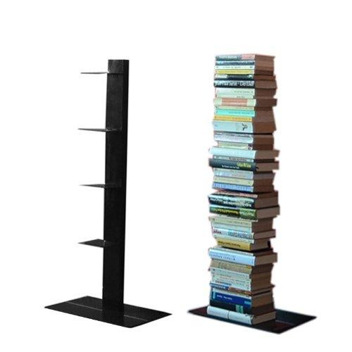 Radius Design booksbaum Single Stand klein schwarz, 3tlg. Best.aus: Halterung + Fuß + Einlegeböden