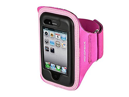 Monoprice piccola e media, in Neoprene, adatta durante gli sport, per Apple iPhone 4/4S, colore: rosa
