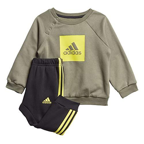 adidas Baby I 3 Streifen Logo Sportanzug Kinder, Leggrn/Shoyel, 86