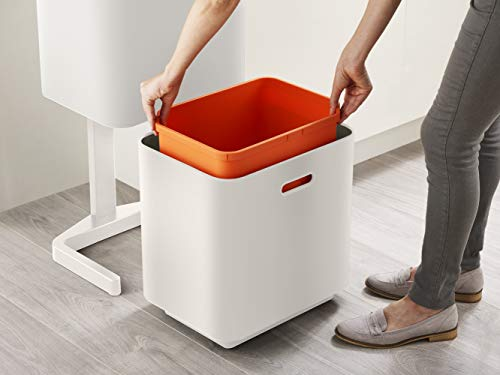 Product Image 12: Joseph Joseph 30061 Intelligent Waste Totem Max Kitchen Trash Can and Recycle Unit with Compost Bin, 60 Liter/16 Gallon, Stone