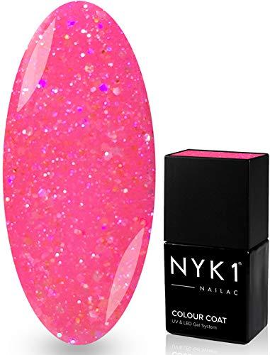 Nyk1 Nailac Vernis à ongles professionnel Shellac gel soak off, séchage rapide UV et LED - Barbie diamant - 10 ml - Shellac une sélection de plus de 100 couleurs au choix