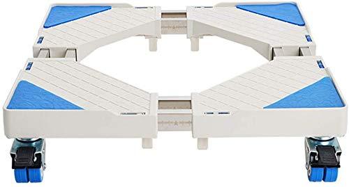 SHKUU Soporte Base para Lavadora, Multifuncional Soporte Base móvil Aire Acondicionado Soporte Elevado Base para Lavadora Drenaje Suave Ajustable con 4 pies fijos