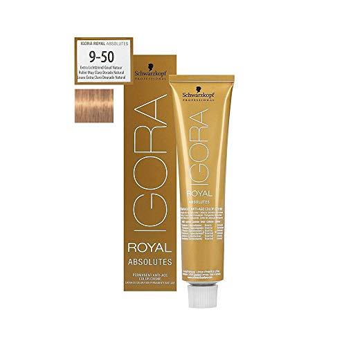 Schwarzkopf Igora Royal Absolutes 9-50 Extra Hellblond Gold Natur, 81 g