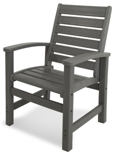 POLYWOOD 1910-GY Signature Dining Chair, Slate Grey