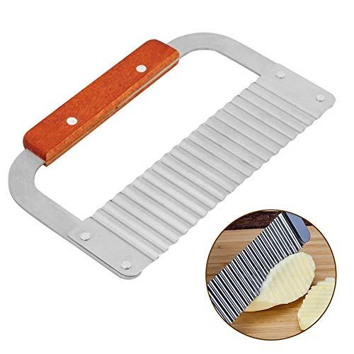 Zeep Wax Cutter, Golvende Slicer Cutter, Hardhout Handvat Crinkle Wax Plantaardige Zeep Mallen Cutter Golvende Slicer Tool