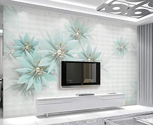 Papel Pintado Pared 3D Flores De Joyería Moderna Moderno Dormitorio Salon Decoracion murales