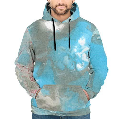 Knowikonwn Sudadera para hombre con textura de mármol clásica - Estilo moderno al aire libre Uniforme blanco4 s
