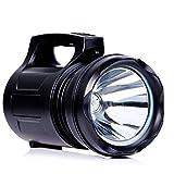 YOMER Super brillante LED reflector recargable portátiles linterna linterna camping linterna 15000MA banco de energía emergencia tienda al aire libre (negro)