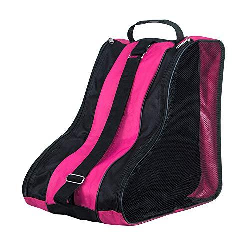 DAZISEN Bolsa para Patines - Mochila Protecciones Patines en Linea Patines de Hielo Skate Bag Unisex Adulto Niño Niña Rosa