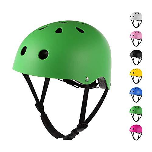 Sposuit Skateboard Bike Helmet for Kids Youth Adult, Adjustable Helmet for Skateboarding Cycling Scooter Roller Skate Skating BMX Rollerblading