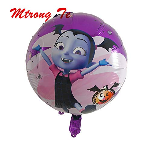 Best Bargain Xucus 50pcs 18inch Round Vampire Girl Helium Foil Balloons Birthday Party Decoration Ki...