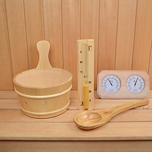 Seasons Shop Sauna Thermo-Hygrometer, 2-in-1-Doppel Genaue Feuchtigkeitsüberwachung Messer, Innen Digital-Feuchtigkeits-Hygrometer Meter-Messgerät für Home Office Indoor Wohn Sauna Zimmer Pleasant