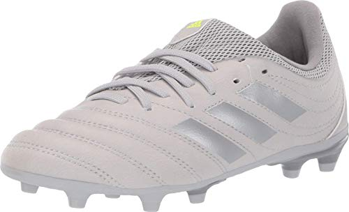 adidas Baby COPA 20.3 FG J Sneaker, Grey two/silver Met./ Solar Yellow, 2 Standard US Width US Toddler