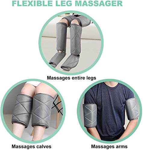 Renpho Leg Massager for Circulation and Relaxation, Calf Feet Thigh Massage, Sequential Wraps Device with 6 Modes 4 Intensities, Helps to Relax Legs, Birthday Fathers Day Gifts for Men Father
