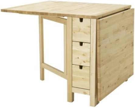 Amazon Com Ikea Gateleg Table White 1626 2928 1014 Furniture Decor