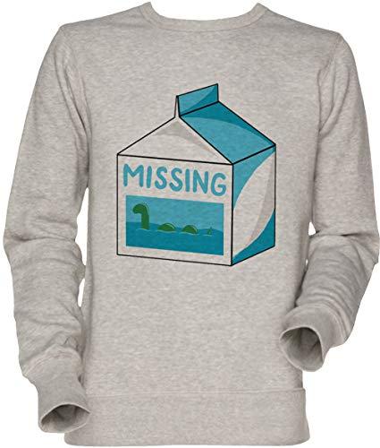 Vendax Missing Unisexe Homme Femme Sweat-Shirt Jersey Gris Men's Women's Jumper Sweatshirt Grey