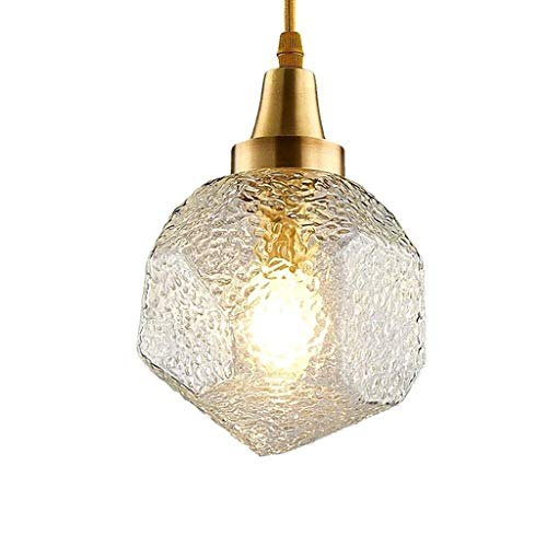 XYZMDJ Modern Metal and Glass Hanging Ceiling Pendant Chandelier Fixture for Dining Room, Kitchen, Coffee Bar, Living Room