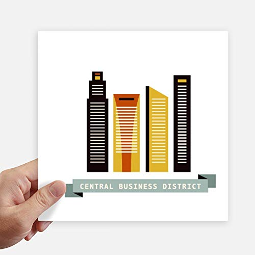 DIYthinker Singapore Central Business District Square Stickers 20Cm muur koffer Laptop Motobike Decal 4 Stks