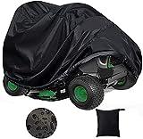 joyvio Outdoor Aufsitz-Rasenmäher wasserdichte Schutzhülle UV-Schutz Aufsitz-Rasenmäher-Abdeckung für Aufsitz-Gartentraktor (72 x 54 x 46 Zoll)