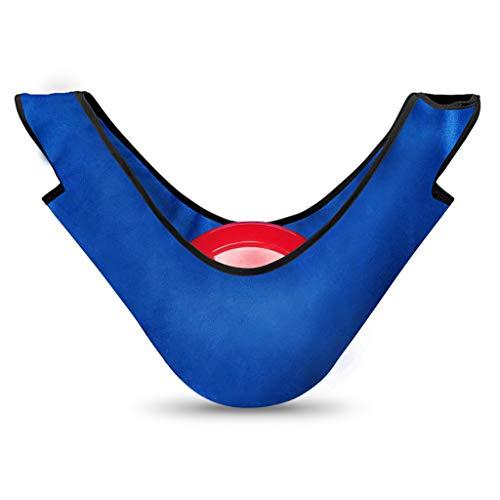 Unbekannt Bowling Ball Bag Bowlingball Poliertuch Poliersack Balltasche Schwar/Blau - Blau