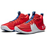 Under Armour Men's Embiid 1 Basketball Shoe, Versa Red/Halo Grey, 8 US