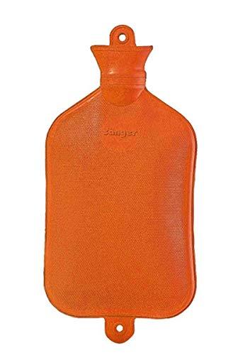 FabaCare Wärmflasche 3 Liter XXL, Naturgummi Wärmeflasche, extra groß, Gummiwärmflasche, Orange