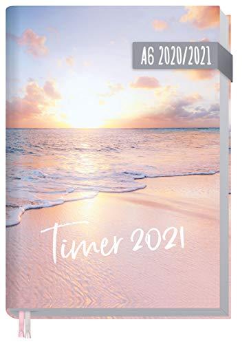 Chäff-Timer Mini A6 Kalender 2020/2021 [Traumstrand] Terminplaner 18 Monate: Juli 2020 bis Dez. 2021 | Wochenkalender, Organizer, Terminkalender mit Wochenplaner - nachhaltig & klimaneutral