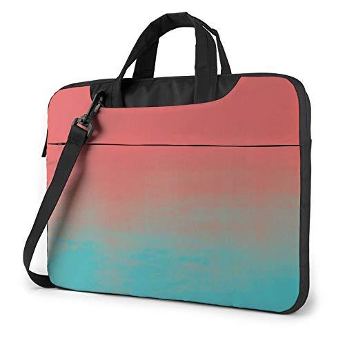 Laptop Bag Watercolor Texture Teal and CoralLaptop Shoulder Bag Messenger Briefcase Laptop Case Sleeve for 13' 14' 15.6'