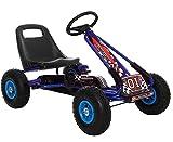 Lean Coche de pedales Go Kart Racing para niños de 3 a 7 años, con neumáticos de goma maciza