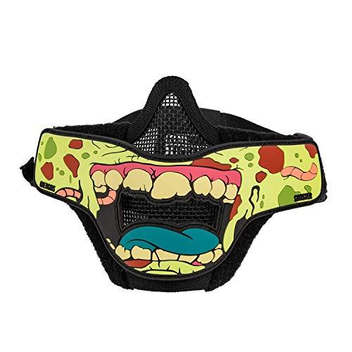 OneTigris Airsoft masker met verwijderbare haai grenen morale patch voor Softair Paintball CS | MEHRWEG verpakking