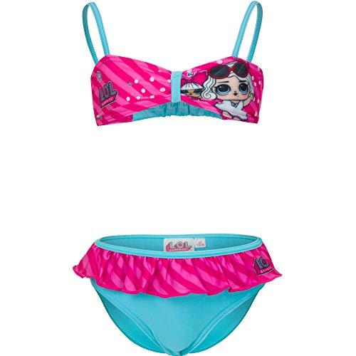 Lol Surprise Costume da Mare Bagno Bikini 2 Pezzi (4 Anni, Celeste)
