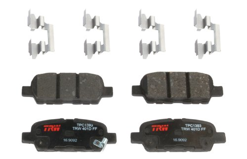 TRW Automotive TPC1393 Disc Brake Pad Set for Nissan Altima: 2010-2018 and other applications Rear, Black