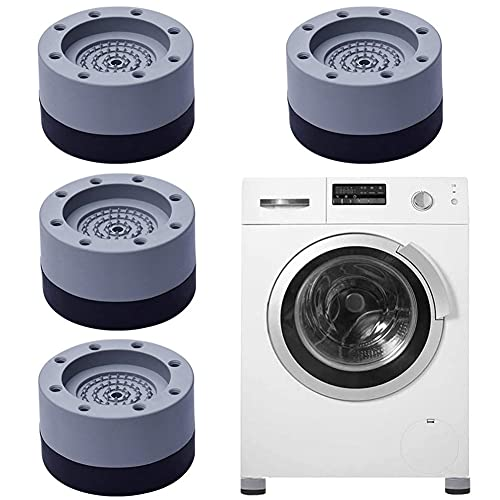 Waschmaschine Fußpolster,4 Anti Vibration Waschmaschine Fußpolster,Schwingungsdämpfer Waschmaschine,Vibration Dämpfer Pads,Dämpfer Waschmaschine,Vibrationsdämpfer für Waschmaschine,Kühlschrank(style1)