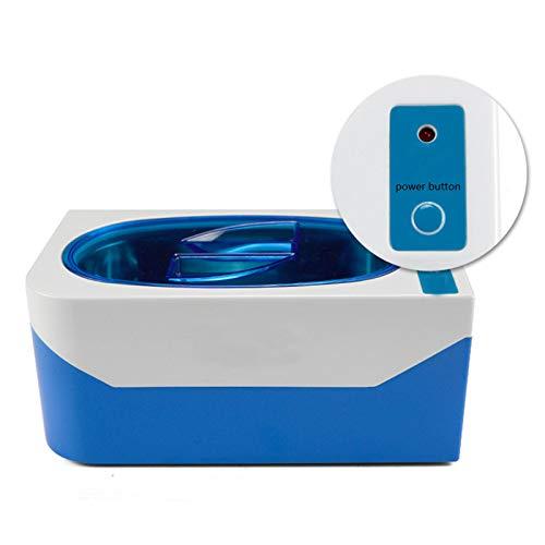 ZJQ-Ultraschall Schmuck Reiniger Maschine Mini, Multifunktionales Automatisches Ultraschall Bad, Für Kontaktlinsen Brillen Uhren Ringe (Farbe: Blau)