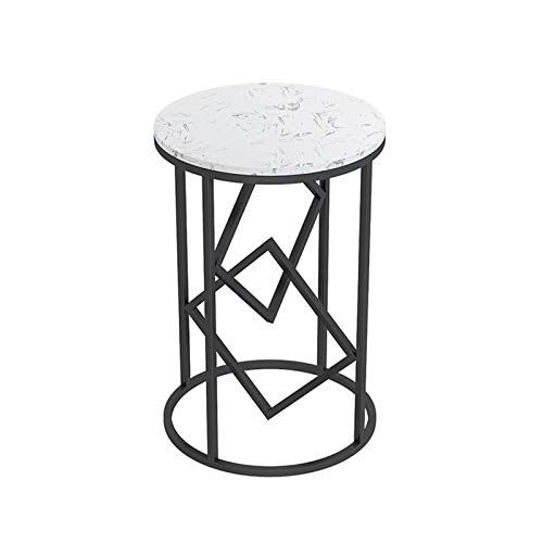 XZGang Metal Small Round Table, Marble Finish Telephone Tables Coffee Table Home Living Room Small Apartment Console Table simple life (Color : C, Size : 40 * 40 * 60CM)