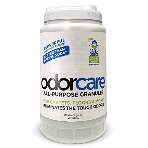odorcare All-Purpose Granules 64 oz. (Value Pack) for Carpets, Floors, Upholstery & More - The only EPA Safer Choice-Certified granular Home + Business + Pet Odor Eliminator